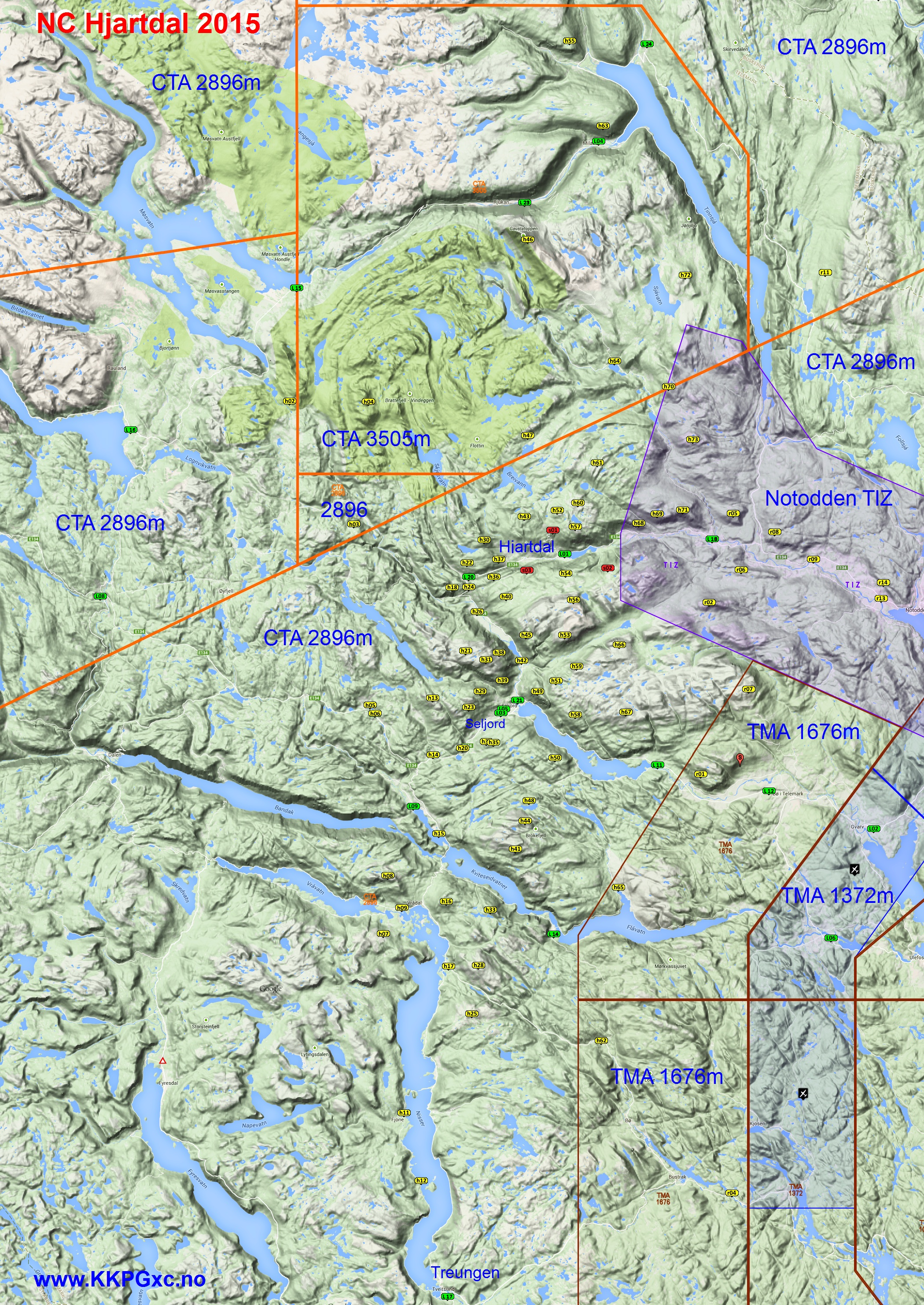 hjartdal kart NC kart til nedlasting og utskrift. :: .KKPGxc.no hjartdal kart